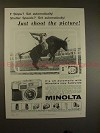1959 Minolta Autowide Camera Ad - Just Shoot Picture!