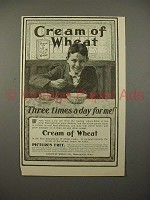 1900 Cream of Wheat Ad - Three Times a Day for Me