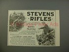 1900 Stevens Rifles Gun Ad - Rabbit Hunting
