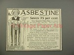 1900 Asbestine Ad w/ Speare's Paint Man - Saves