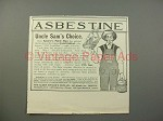 1900 Asbestine Ad w/ Speare's Paint Man - Uncle Sam