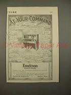 1913 Emerson Player Piano Ad - At Your Command