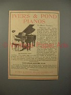 1913 Ivers & Pond Small Parlor Grand Piano Ad