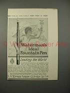 1914 Waterman's Ideal Fountain Pen Ad - Leading