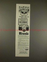 1957 Miranda Camera Ad - World's First Compatible SLR!!