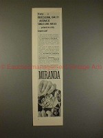1958 Miranda Camera Ad - Finally Professional Quality!