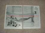 1958 2-page Miranda Camera Ad -  Oh that Miranda!