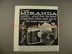 1959 Miranda Automatic C Camera Ad - I Want Quality!!