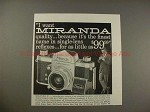 1959 Miranda S Camera Ad - I Want Miranda Quality!!