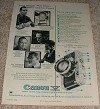 1956 Canon V Camera Ad, The Man Who Owns One!