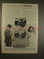 1960 Miranda Automex & D Camera Ad - If you haven't met Miranda