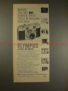 1957 Olympus 35-S Camera Ad - Check These 7 Features!!
