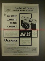 1958 Olympus 35-SII Camera Ad - The Most Complete 35mm!