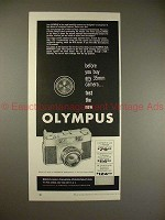 1958 Olympus 35-SII Camera Ad - Before You Buy, Test!!