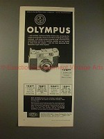 1958 Olympus 35-S and Wide-S Camera Ad - Olympus!!!
