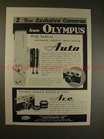 1959 Olympus Auto & Ace Camera Ad - 2 New Exclusive!!