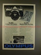 1978 Olympus OM-1 Camera Ad - The Compact SLR Camera!!