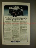 1980 Olympus OM-10 Camera Ad - Your First Quality SLR!!