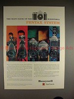 1961 Honeywell Pentax H-1 & H-3 Camera Ad - Many Faces!