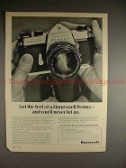 1970 Pentax Honeywell Spotmatic Camera Ad, Never Let Go