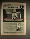 1956 Praktica FX2 Camera Ad - Announcing Model 2, NICE!