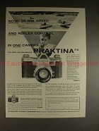 1956 Praktina FX Camera Ad - Speed and Reflex Control!!