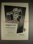 1959 Praktica FX3 Camera Ad - Today's Top Dollar Value!