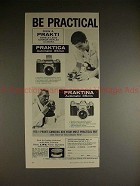 1959 Praktica & Praktina Camera Ad - Be Practical!!