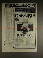 1960 Praktica FX2 Camera Ad - Only $49.99!!