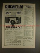 1961 Praktica FX2 Camera Ad - Kelly Saves You More!!