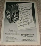 1956 Rollei Rolleicord Camera Ad, Long Proved Record!!