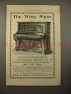 1896 Wing Style 7 Piano Ad!