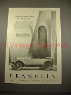 1925 Franklin Touring Car Ad - Leading The Sports Vogue