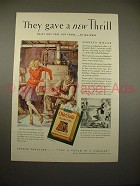 1930 Old Gold Cigarettes Ad w/ Marilyn Miller