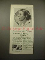 1930 Kleenex Tissue Ad w/ Virginia Valli
