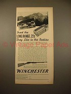 1938 Winchester Model 62 Rifle Gun Ad - Like in Rockies