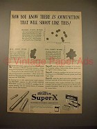 1938 Western Super-X Cartridge Gun Ammunition Ad!