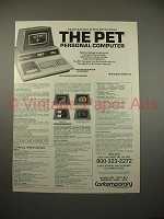 1978 Commodore PET Personal Computer Ad - Integrated!