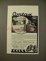1937 Zeiss Contax, Super Ikonta Camera Ad!
