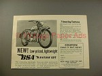 1949 BSA Bantam 125 Motorcycle Ad - Amazing Features