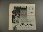 1956 Ricoh Super Ricohflex Camera Ad - Adaptable for 35