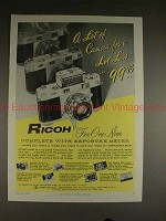 1958 Ricoh 519 Camera Ad - A Lot for a Lot Less!