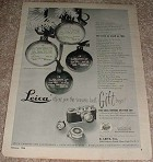 1950 Leica Camera Ad, Seasons Best Gift Buys!