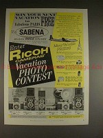 1958 Ricoh 519, 500, Golden 16, Diacord L, G Camera Ad!