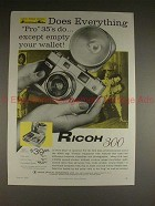 1959 Ricoh 300 Camera Ad - Does Everything Pro 35's Do!