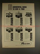1969 Ricoh Camera Ad - TLS Singlex 126C-Flex Super Shot