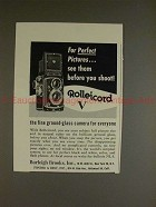 1955 Rollei Rolleicord V Camera Ad - See Before Shoot!!