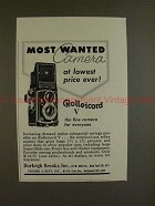 1956 Rollei Rolleicord V Camera Ad - Most Wanted!!