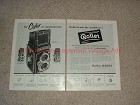 1956 2-page Rollei Rolleiflex & Rolleicord Camera Ad!!