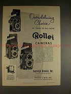 1956 Rollei Rolleiflex & Rolleicord Camera Ad, In Know!
